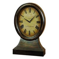 Pine Canopy Hyssop Antique Brown Wood Table Clock
