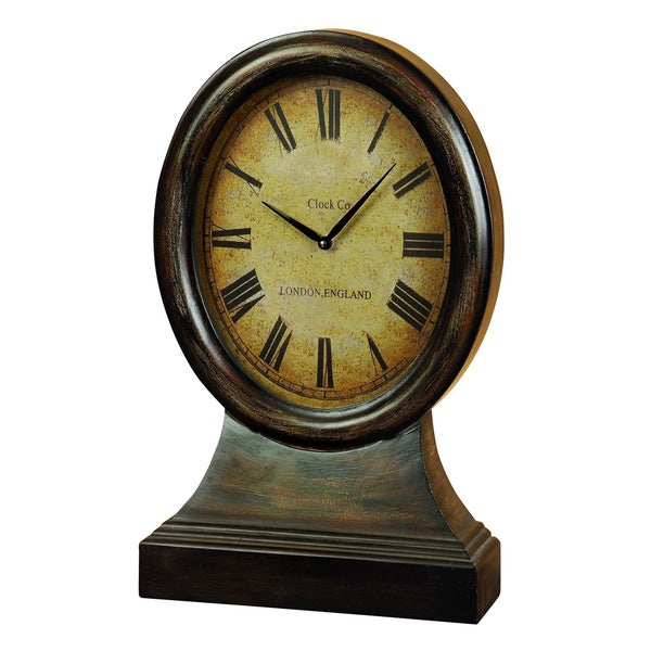 Wood Table Clock Decor