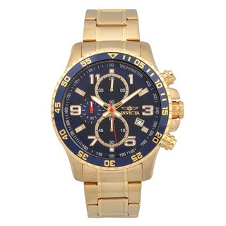 Invicta Men's Goldplated Stainless Steel 'Specialty' Quartz Watch