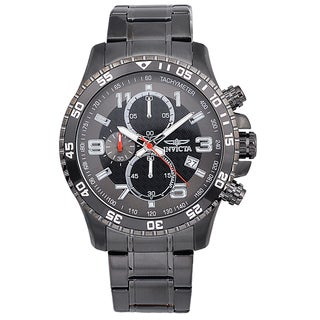 Invicta Men's Ion-plated Stainless Steel 'Specialty' Quartz Watch