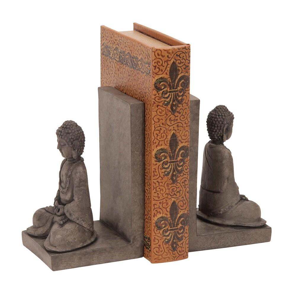 Library Polystone Buddha Bookend Set Set of