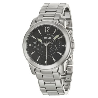 Fossil Men's 'Grant' Ceramic Chronograph Military Time Watch with Date Display