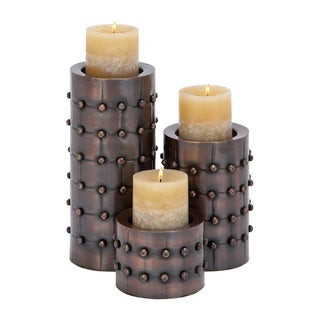 Metal Candle Holders (Set of 3)