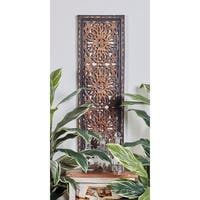 2-piece Wood Wall Panel - Brown