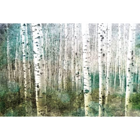 Handmade Parvez Taj - Aspen Green Canvas Print