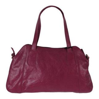 Women's Latico Garrison 7556 Plum Leather Handbag