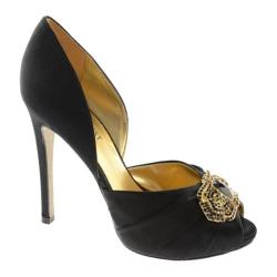 Women's Nine West Adorette Black Satin Luxe