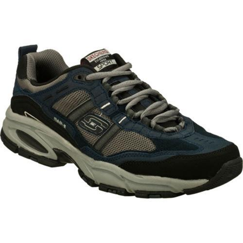 Sport Mens Vigor 2.0 Trait Memory Foam Sneaker, Navy/Grey, 11.5 M US Skechers