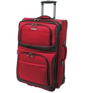 Traveler's Choice Red Conventional II 22-inch Rugged Carry On Wheeled Upright