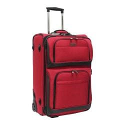 Traveler's Choice Red Conventional II 26-inch Rugged Wheeled Upright Suitcase