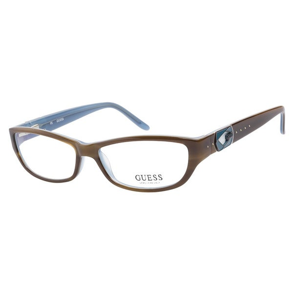 c4fb72d1c77fe Shop Guess GU2243 Brown Teal Prescription Eyeglasses - Free Shipping Today  - Overstock - 8634293
