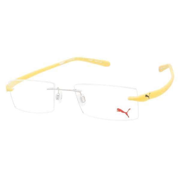 Shop Puma PU15288 Crossover Yellow Prescription Eyeglasses - Free ...