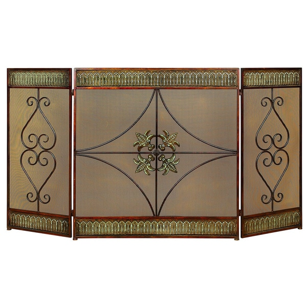 Classical Metal-framed Fire Screen