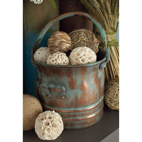 Set of 3 Rustic 9, 11, and 13 Inch Round Drum Planters by Studio 350
