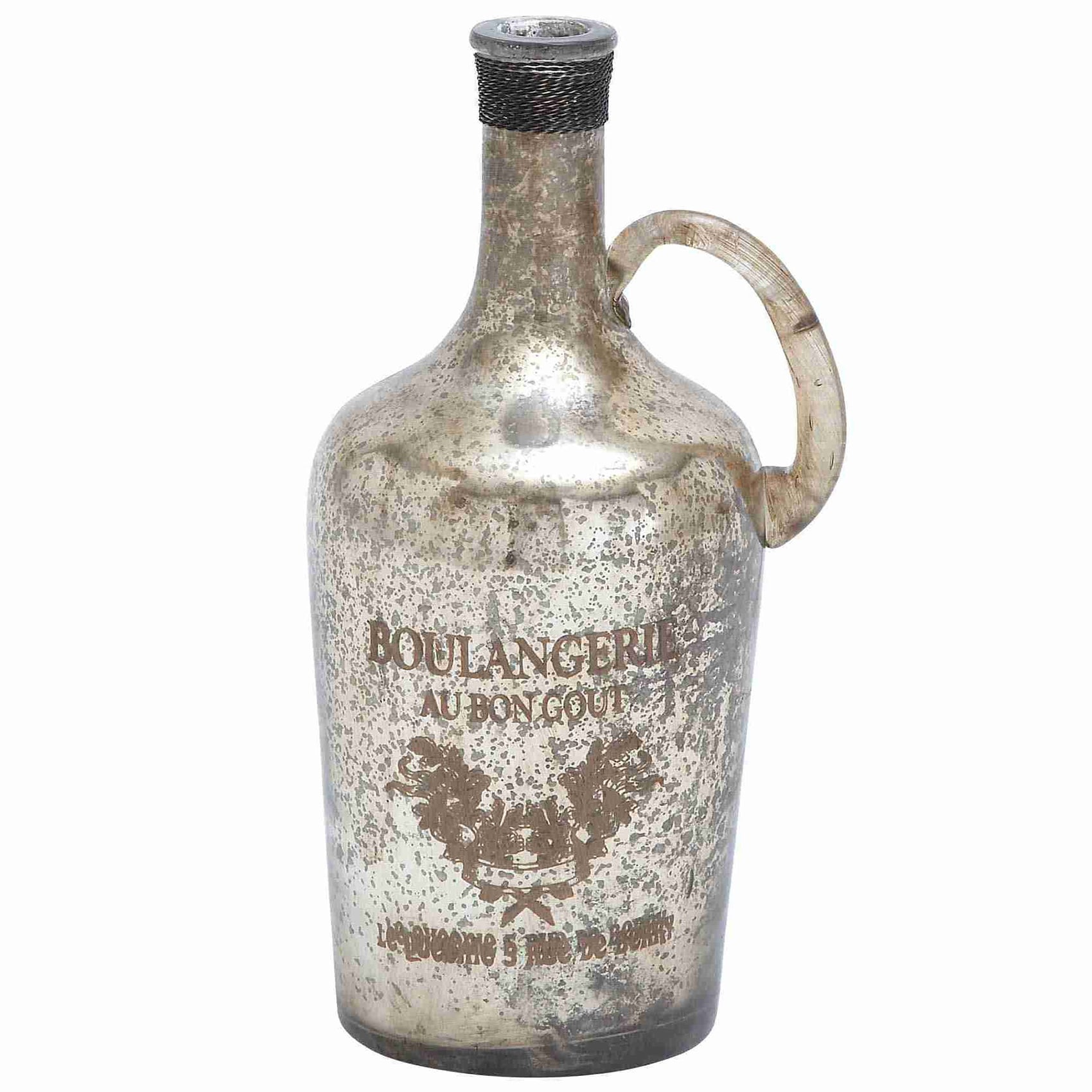 Benzara Unique and Attractive Glass Bottle with Vintage D...