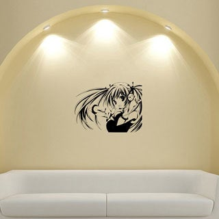 Japanese Manga Girl Vinyl Decal Sticker