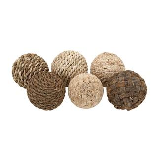 Natural Patterned 6-piece Decorative Ball Set