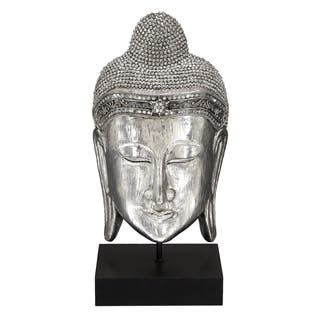 Textured Silver Meditating Buddha Head Sculpture|https://ak1.ostkcdn.com/images/products/8636453/Textured-Silver-Meditating-Buddha-Head-Sculpture-P15899721.jpg?impolicy=medium