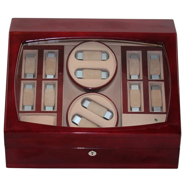 Dark Wood Double Watch Winder