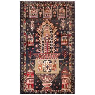 Herat Oriental Afghan Hand-knotted Tribal Balouchi Wool Area Rug (2'10 x 4'9)