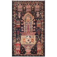 Herat Oriental Afghan Hand-knotted Tribal Balouchi Wool Area Rug (2'10 x 4'9) - 2'10 x 4'9
