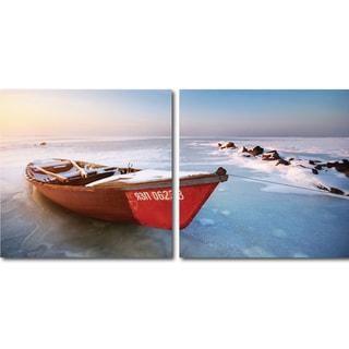 Baxton Studio Seasonal Seashore Mounted Photography Print Diptych