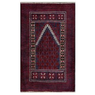 Herat Oriental Afghan Hand-knotted Tribal Balouchi Wool Area Rug (2'10 x 4'8)