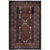Herat Oriental Afghan Hand-knotted Tribal Balouchi Wool Rug (3' x 4'9) - 3' x 4'9
