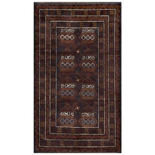 Herat Oriental Afghan Hand-knotted Tribal Balouchi Navy/ Brown Wool Area Rug (2'10 x 5')