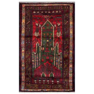Handmade One-of-a-Kind Balouchi Wool Rug (Afghanistan) - 2'6 x 4'