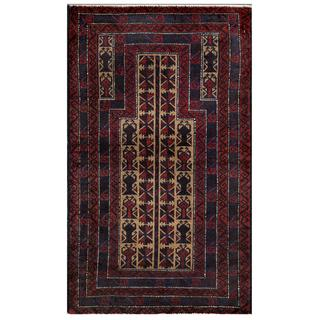 Herat Oriental Afghan Hand-knotted Tribal Balouchi Wool Area Rug (2'9 x 4'8)