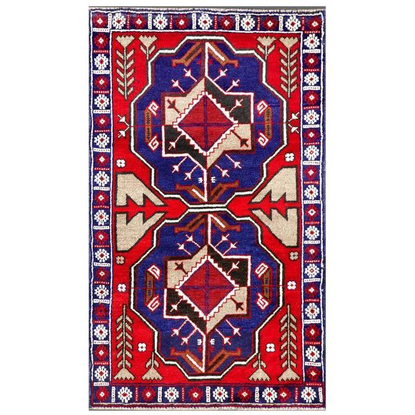 Herat Oriental Afghan Hand-knotted Tribal Balouchi Wool Area Rug (2'8 x 4'5) - 2'8 x 4'5