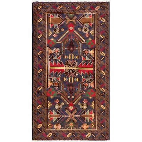 Handmade One-of-a-Kind Balouchi Wool Rug (Afghanistan) - 2'8 x 4'9