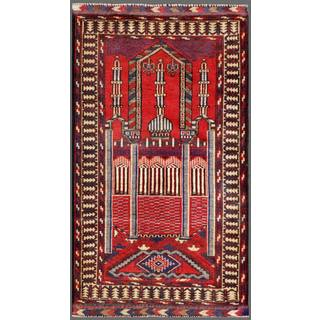 Herat Oriental Afghan Hand-knotted Tribal Balouchi Wool Area Rug (2'7 x 4'9)
