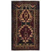 Herat Oriental Afghan Hand-knotted Tribal Balouchi Wool Area Rug (2'8 x 4'8) - 2'8 x 4'8