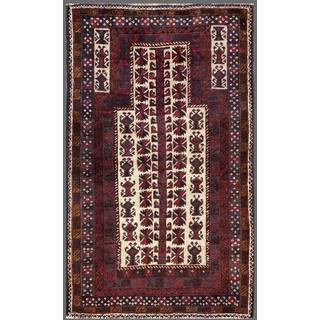Herat Oriental Afghan Hand-knotted Tribal Balouchi Wool Area Rug (2'8 x 4'6)