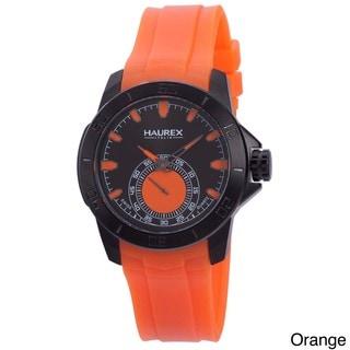 Haurex Men's 'Acros' Rubber Strap Watch