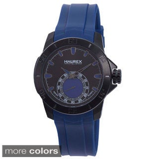 Haurex Men's 'Acros' Rubber Strap Watch