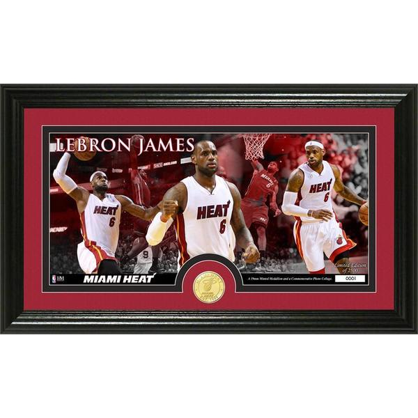 Lebron James Bronze Coin Panoramic Photo Mint