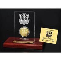 Dallas Mavericks 24k Gold Coin Etched Acrylic