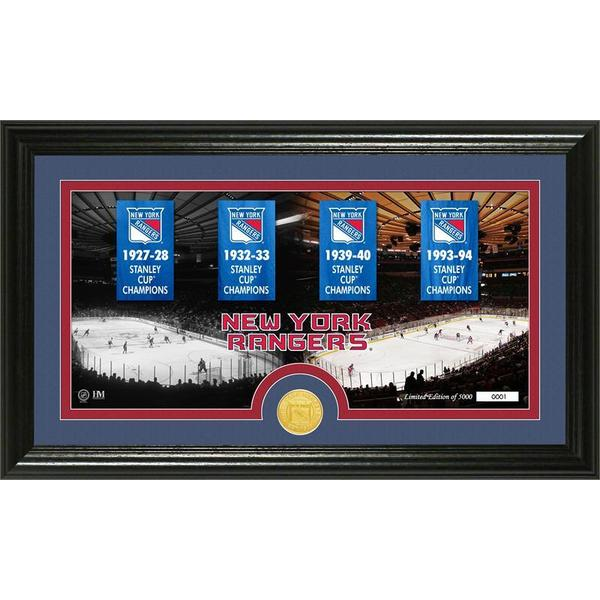 New York Rangers Tradition Minted Coin Pano Photo Mint