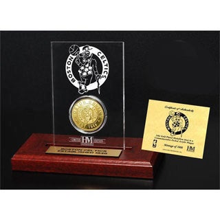Boston Celtics 24k Gold Coin Etched Acrylic