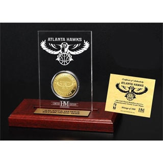 Atlanta Hawks 24k Gold Coin Etched Acrylic