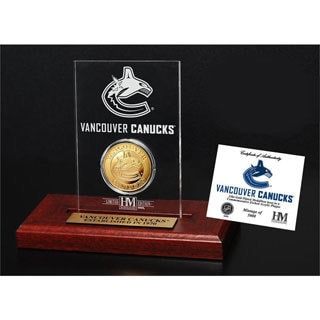 Vancouver Canucks Etched Acrylic Desktop