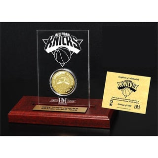 New York Knicks 24k Gold Coin Etched Acrylic