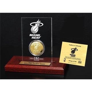 Miami Heat 24k Gold Coin in Etched Acrylic Frame