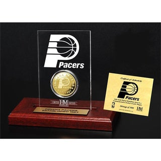 Indiana Pacers 24k Gold Coin Etched Acrylic