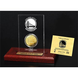Golden State Warriors 24k Gold Coin Etched Acrylic