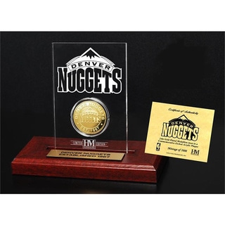 Denver Nuggets 24k Gold Coin Etched Acrylic