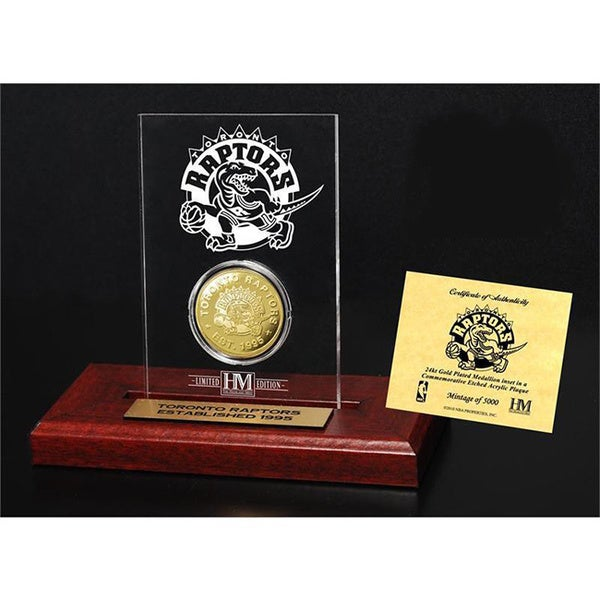 Toronto Raptors 24k Gold Coin Etched Acrylic